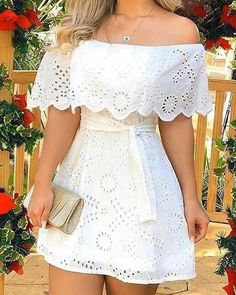 Elegant Dresses, Sexy Dresses, Beautiful Dresses, Casual Dresses, Fashion Dresses, Trend Fashion, Look Fashion, Vestidos Color Blanco, Vip Dress