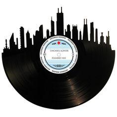 Chicago Skyline Records Redone Label Vinyl Record by RecordsRedone