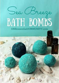 Step-by-step instructions for how to make the perfect bath bombs using essential oils. So easy, even I can do it! Plus there's a FREE PRINTABLE of the bath bomb recipe and 15 essential oil blends to customize the scent and therapeutic benefits