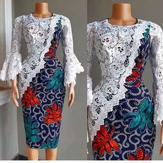 The African Ankara dress styles are in arguably the most popular dress styles trending in the world of fashion. Discover latest african dress styles in 2019 Latest Ankara Dresses, Short African Dresses, African Lace Styles, Ankara Short Gown Styles, Lace Dress Styles, Latest African Fashion Dresses, African Print Fashion, Ankara Fashion, Latest Ankara Styles