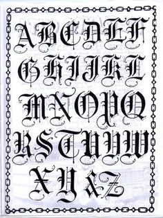 """Tats on my arm in """"Old English"""" Fonts Tattoo Lettering Styles, Chicano Lettering, Graffiti Lettering Fonts, Script Lettering, Calligraphy Letters, Tattoo Typography, Gotisches Alphabet, Gothic Alphabet, Tattoo Fonts Alphabet"""