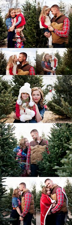 Nicole of Nicole Dina Photography is an amazing fellow photographer here in Colorado and I had the privilege to shoot a family session for her this past weekend! I have wanted to shoot a session a Christmas Tree Farm for a while and she wanted to incorporate festive holiday colors and clothes