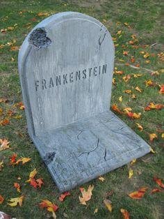 Life-sized Aurora Frankenstein model kit tombstone