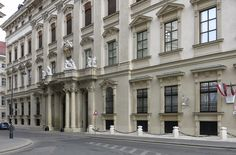 Front facade Liechtenstein palace Vienna