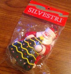 SILVESTRI MUSICAL ORNAMENT SANTA CHRISTMAS TREE 1994 NEW ORIGINAL PACKAGE