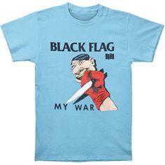 324c801b6 new T-Shirt Black Flag Band Series My War Gildan Men's Clothing blue Size S
