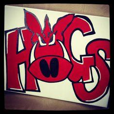 "Arkansas Razorbacks ""HOGS"" Canvas"