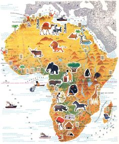 """Photo from album """"Что"""" on Yandex. Montessori Toddler, Toddler Activities, Funky Painted Furniture, Pictorial Maps, Water Into Wine, Africa Map, African History, History Books, Kids Education"""