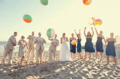 Beach balls for wedding