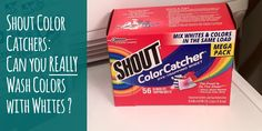 Shout Color Catchers Review: can you get away without sorting? #laundry