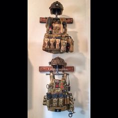 "How a man cave does ""OMG super cute distressed industrial pipe fixture I saw on… Weapon Storage, Gun Storage, Edc, Tactical Vest, Tactical Survival, Tactical Wall, Gun Rooms, Plate Carrier, Military Gear"