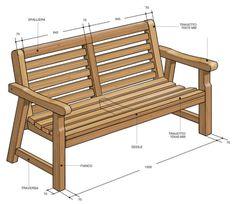 progetto panca di legno