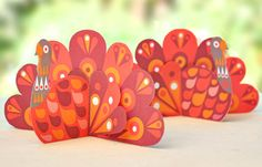turkey printables - ornaments/name cards
