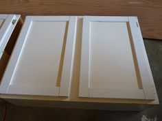 Tutorial On How To Make Shaker Panel Cabinet Doors From Flat Ones