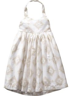 Patterned Halter Dresses for Baby