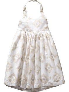 Patterned Halter Dresses for Baby