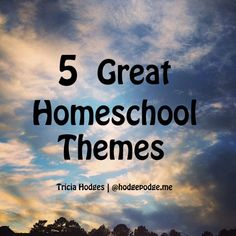 5 Great Homeschool Themes for Multiple Ages - such beautiful homeschool ideas.