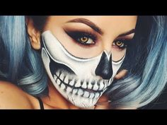 I love this Halloween look done using cheap Halloween makeup you can get anywhere this time of year... this is going to be my costume :-)