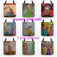 A PINK DREAMER: art bag giveaway!!!!- καλοκαιρινός διαγωνισμός με ...