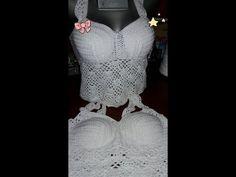 YouTube Top Tejidos A Crochet, Crochet Bra, Sombrero A Crochet, Crochet Videos, Bra Tops, Tutu, Knitting, Bikinis, Youtube
