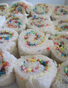 Fairy bread scrolls