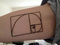 My first of tattoo (got it two days ago) of the Fibonacci Spiral on my inner bicep done by Ryan at Curious Tattoos in College Park, MD.