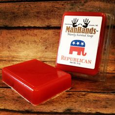 Republican Scented Soap 3 oz Bar by ManHandsSoap on Etsy, $5.95