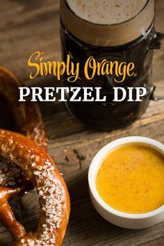 Our three-ingredient Simply Orange® Pretzel Dip is as simple to make, as it is delicious to eat. The delicious, fresh-squeezed taste of Simply Orange is mixed with whole grain mustard and honey to create a delectable sauce that hits all your taste buds. Serve with pretzels and have your own Oktoberfest celebration at home.