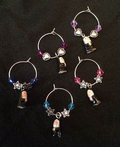 Nun wine glass charms. Perfect for Sister Act or Sound of Music