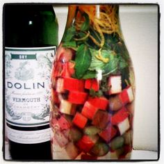 Rhubarb-infused vermouth - Fresh-Picked Seattle