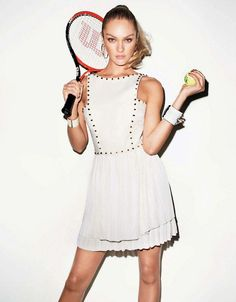 Game on - candice swanepoel teams up with terry richardson for another spor Terry Richardson, Tennis Fashion, Sport Fashion, High Fashion, Womens Fashion, Candice Swanepoel, Mode Tennis, Betsey Johnson, Style Sportif