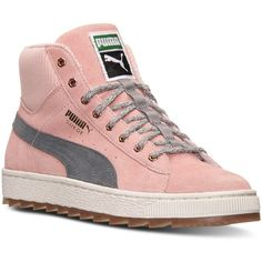 Puma Women's Suede Winterized Rugged Casual Sneakers from Finish Line (27 OMR) ❤ liked on Polyvore featuring shoes, sneakers, puma sneakers, suede shoes, suede sneakers, lined shoes and puma footwear
