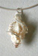 Jewelry Making Shells Sterling_silver_wire_wrapped_Sanibel_Island_shell_pendant.jpg - Sea Glass Commission Jewelry - Your sea glass and other beach finds made into beautiful and unique jewelry Seashell Jewelry, Seashell Crafts, Jewelry For Her, Sea Glass Jewelry, I Love Jewelry, Womens Jewelry Rings, Jewelry Making, Unique Jewelry, Seashell Art
