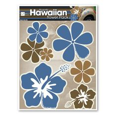 It may be cold outside but it can be summer all year round with this Hawaiian floral magnet set!