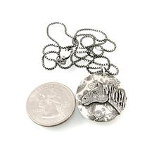 Silver Horse Pendant with Chain Options by Kris Kramer Designs