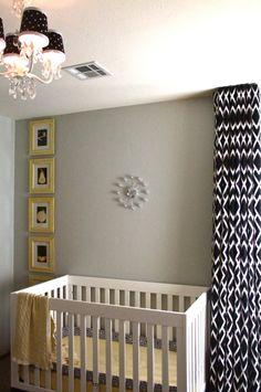 black, white and yellow wall art | Black, white, and yellow nursery - Nursery Designs - Decorating Ideas ...