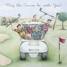 Cards » May the Course be with You » May the Course be with You - Berni Parker Designs