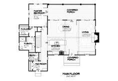 Cottage Style House Plan - 3 Beds 3.5 Baths 2238 Sq/Ft Plan #901-35 Floor Plan - Main Floor Plan - Houseplans.com