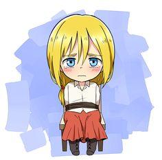 Shingeki no Kyojin, Armin Arlert dressed as Historia Reiss. ________________________________ Omf!! Armin is being raped QAQ I'll wipe out those b*stards !!!!