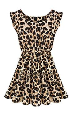 L04BABY New Sexy Leopard Casual Evening Cocktail Party Mini Dress Summer Dresses
