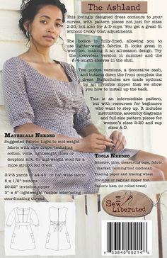 Sew Liberated - The Ashland Dress Sewing Pattern