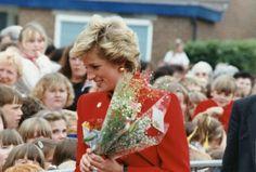14 June 1990 Diana visiting Gamesley,  Buxton, Derbyshire.