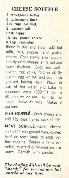 soufflé zu fromage