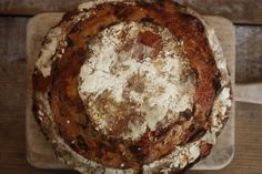 Tartine Bread Experiment: the classic: spelt sourdough bread with bacon, gruyere and leeks