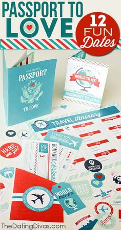 Passport to Love- a DIY gift idea that lasts all year.  Saving this for our anniversary!!!