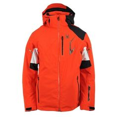 Spyder Men's Leader Jacket, Volcano/Black/White, Small >>> You can get more details by clicking on the image.