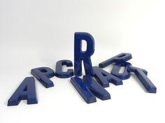 Salvaged Blue Plastic Letters: more vintage letters