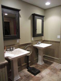 Two Tone Primitive Color Walls Idea Dining Room