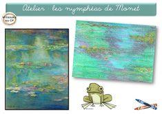 Plusieurs ateliers inspirés des nymphéas de Claude Monet - Mitsouko au cp Claude Monet, School Projects, Art Projects, 3rd Grade Art Lesson, Spring School, Ecole Art, Art N Craft, Impressionist Paintings, Oeuvre D'art