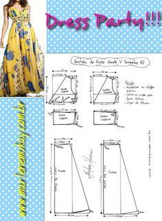Mod@ En Line@.                                            Dress Party pattern